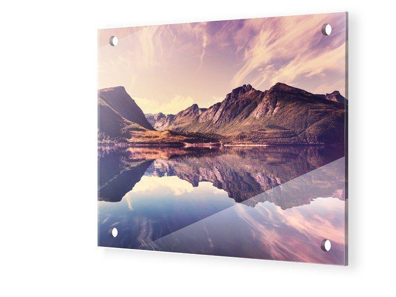 Fjord Bild Acrylglasfotos quadratisch im Format 40 x 40 cm Jetzt ...