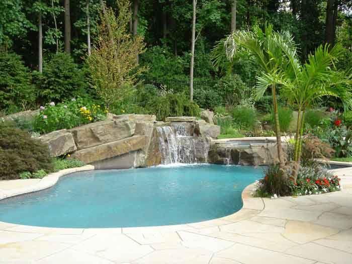 Backyard Swimming Pool Designs | Tropical backyard swimming ...
