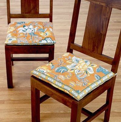 Dining Chairs Cushions With Floral Design