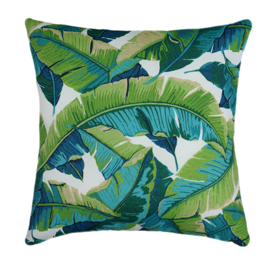 Tropical Teal And Green Designer Pillow Cover Accent Cushion
