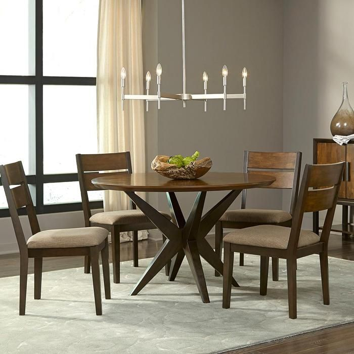 Adriana 5 Piece Dining Set 48 Round Dining Table Dining Dinning Chairs