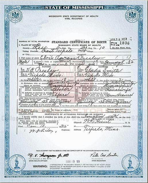 💘💘 birth certificate 💘💘 | elvis's circle g ranch in 2018 | elvis ...