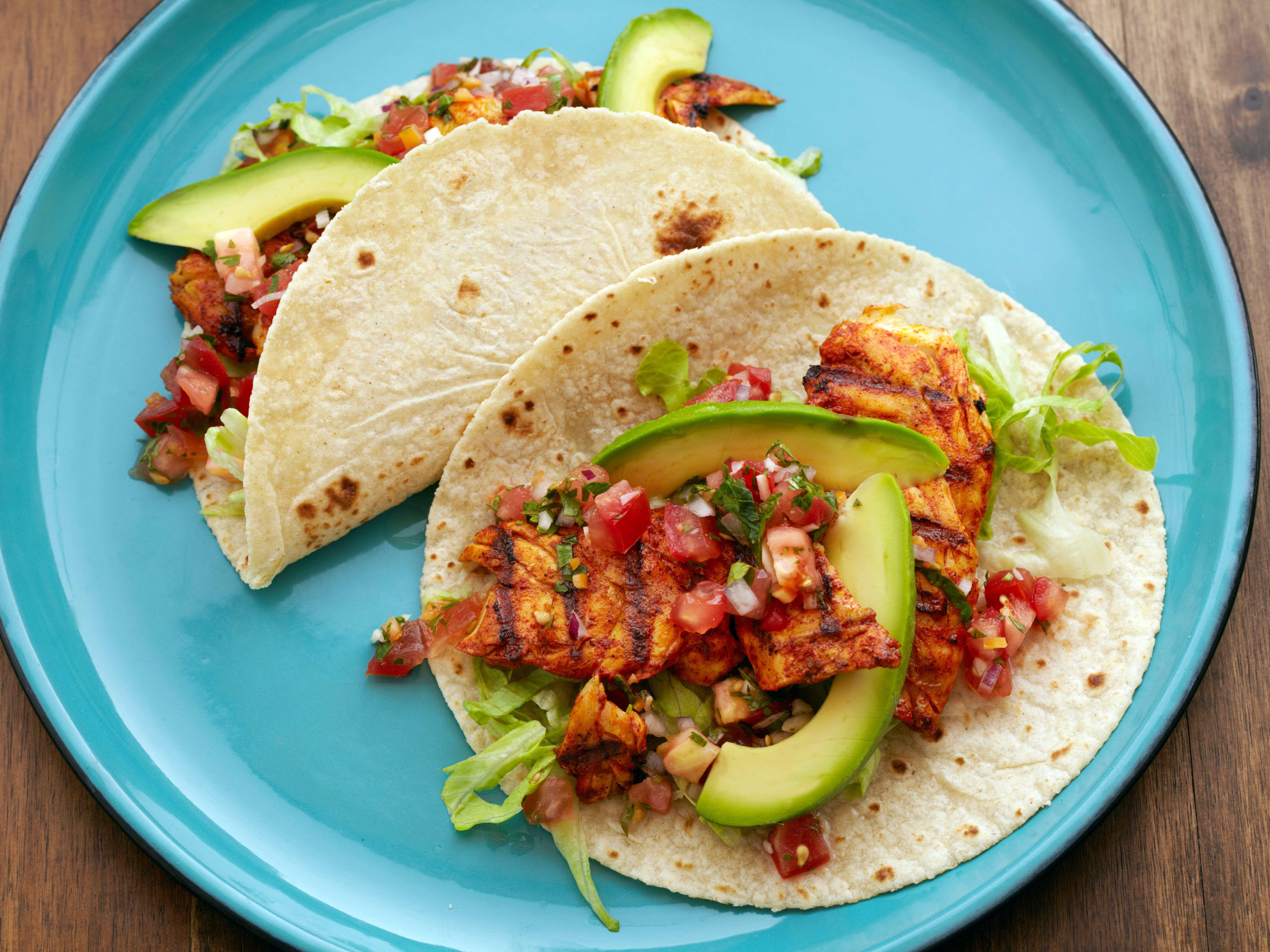 Fish Tacos With Habanero Salsa Recipe Food Network Recipes