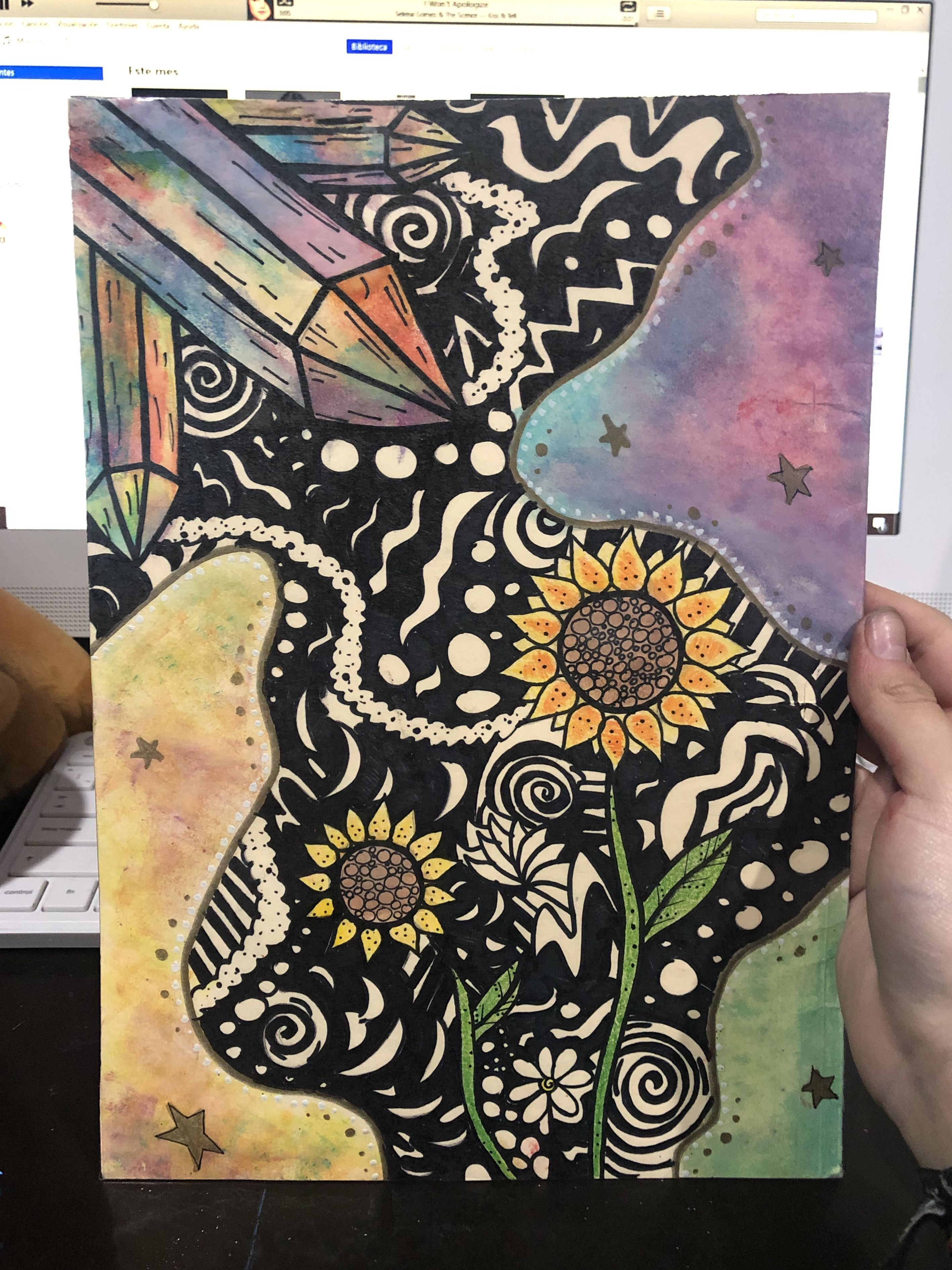 Pin By Sarah On Art With Images Flower Art Painting Trippy