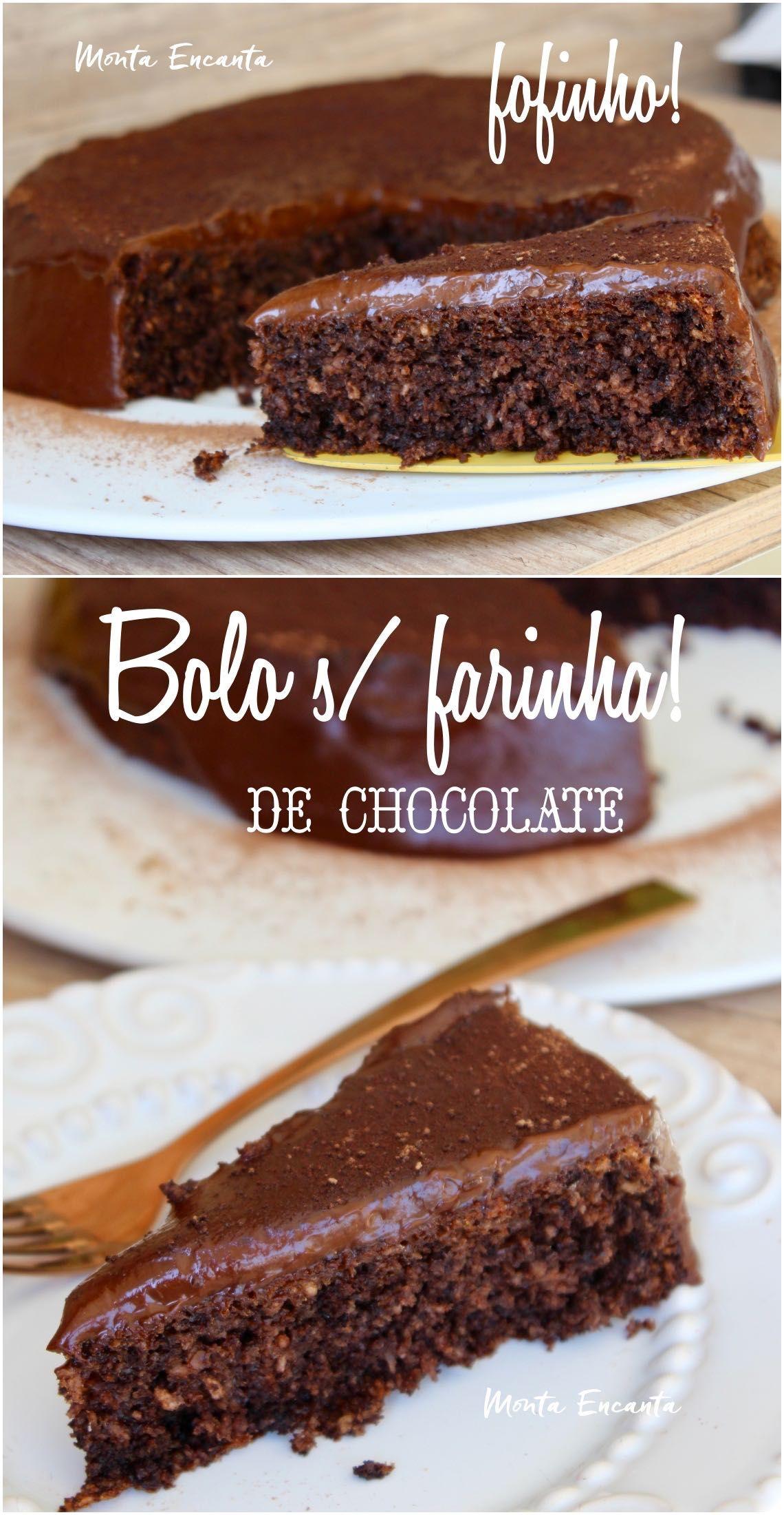 Bolo Sem Farinha De Chocolate Fofissimo E Umido Bolo Sem