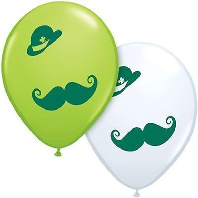 "5-10pc 11"" Derby & Moustache Latex Balloon Happy Birthday Party St. Patricks Day"