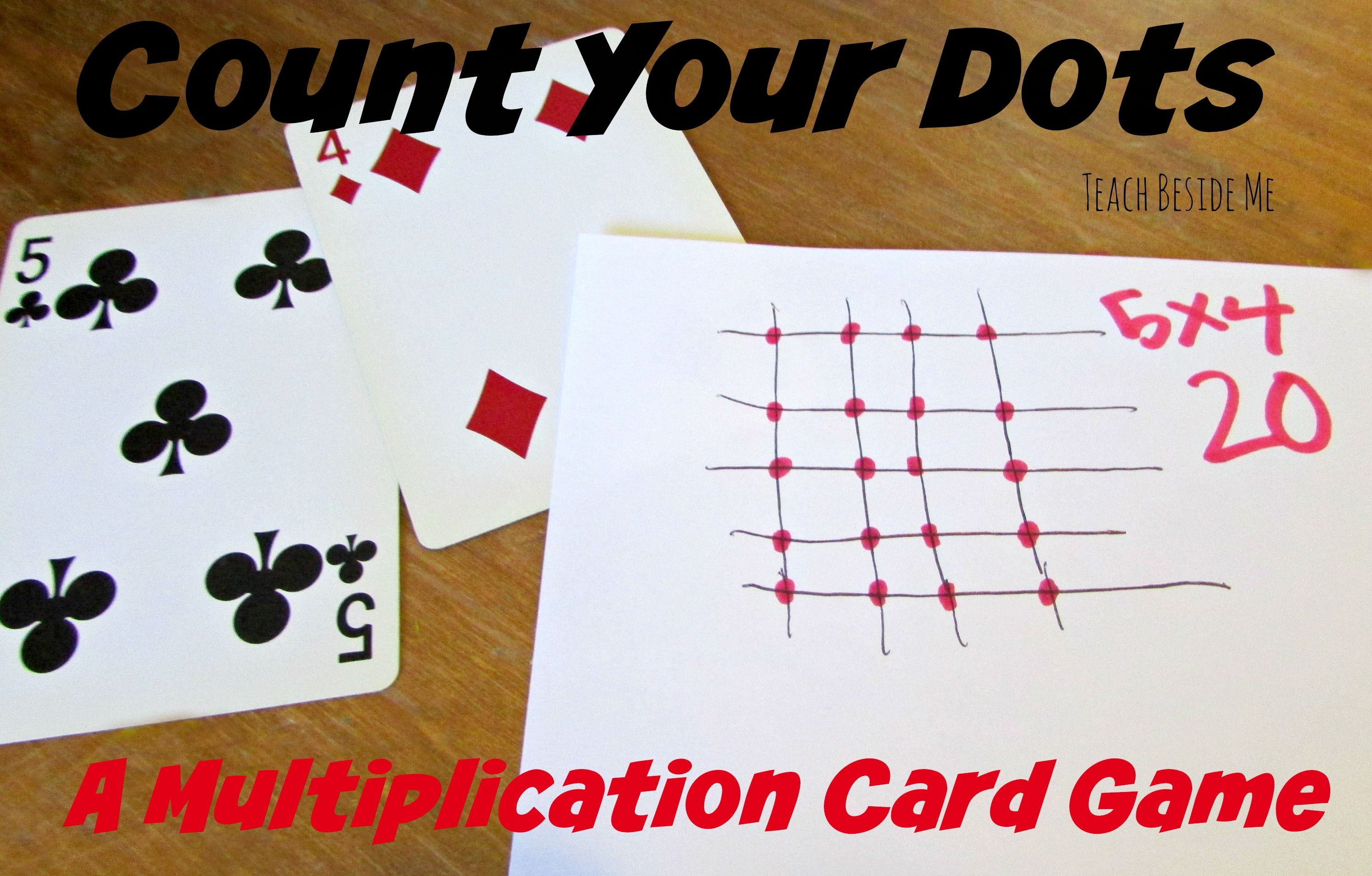 Play this multiplication card game, Count Your Dots, to practice math facts with your kids in a fun way.