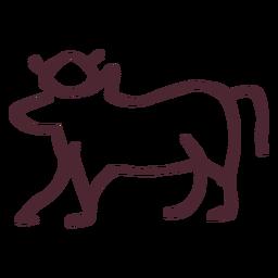 Egyptian Traditional Sacred Cow Symbol Cow Sacred Geometry Symbols
