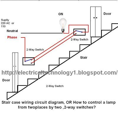 wire a 2 way lighting switch