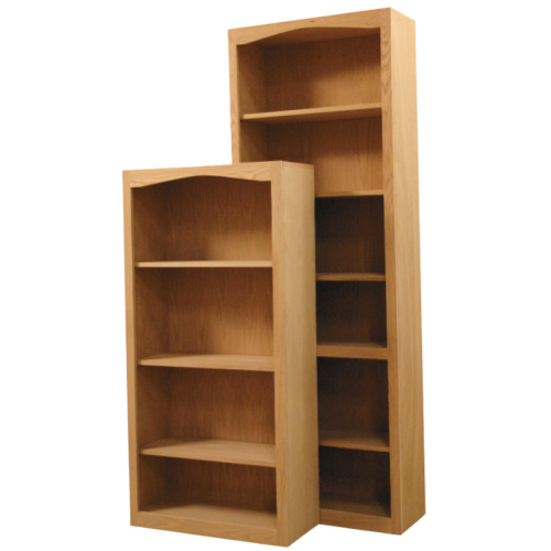 Furniture In The Raw Arch Bookcases Unfinished Pine Maple Or Oak 24W X 72H