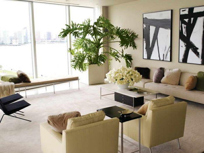 12 Neu Fotos Von Wohnzimmer Deko Mit Pflanzen   Living room plants, Living room decor, Living ...