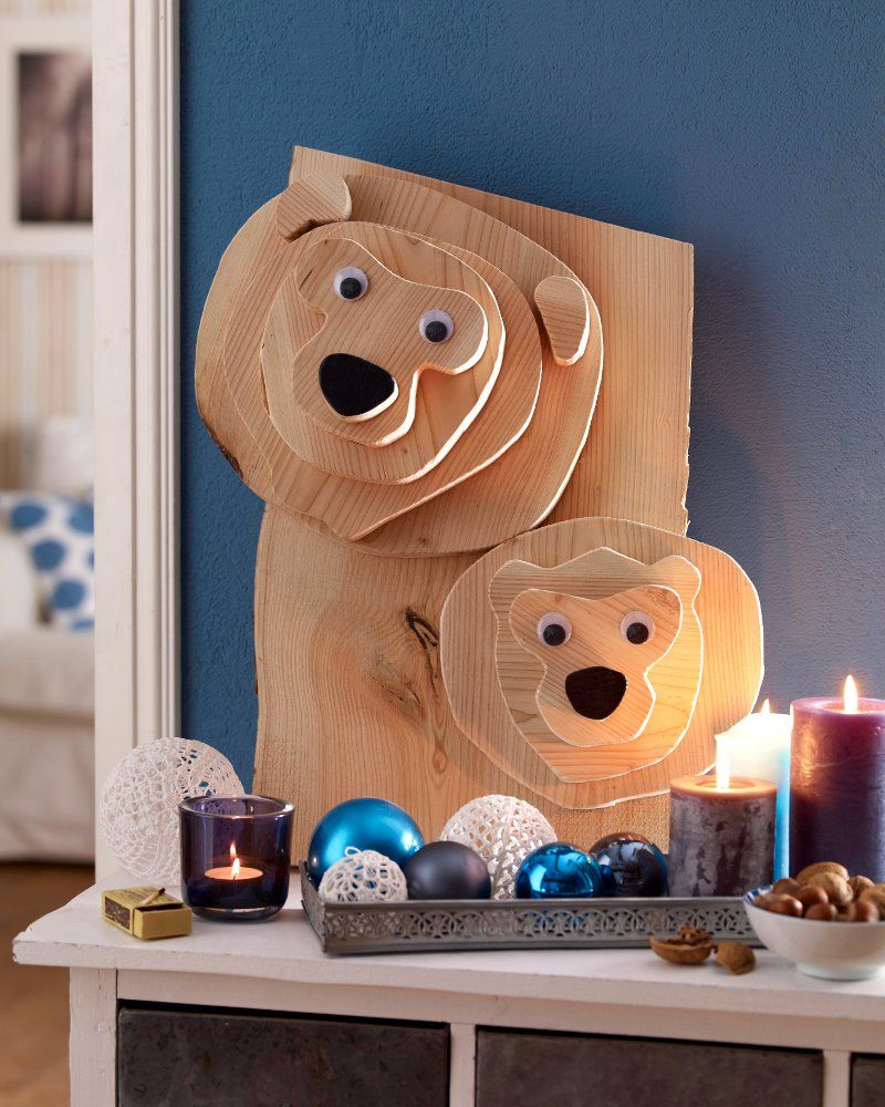 diy weihnachts b ren dekoration aus holz diy pinterest woods bears and. Black Bedroom Furniture Sets. Home Design Ideas