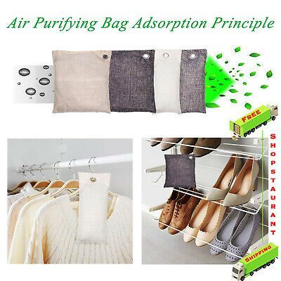8 Piece Bamboo Charcoal Air Purifying Bag Nature Fresh Absorber Odor Eliminators 8 Piece Bamboo Charcoal Air Purifying Bag Nature Fresh Absorber Odor Eliminators