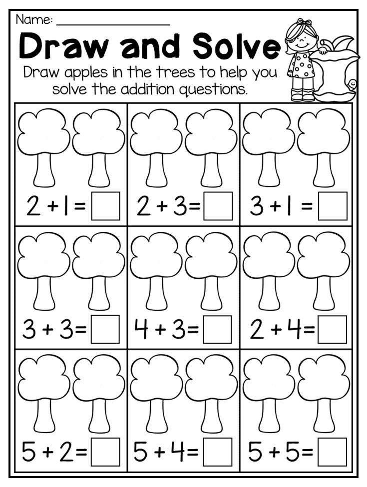 Fall Kindergarten Math and Literacy Worksheet Pack | Pinterest ...