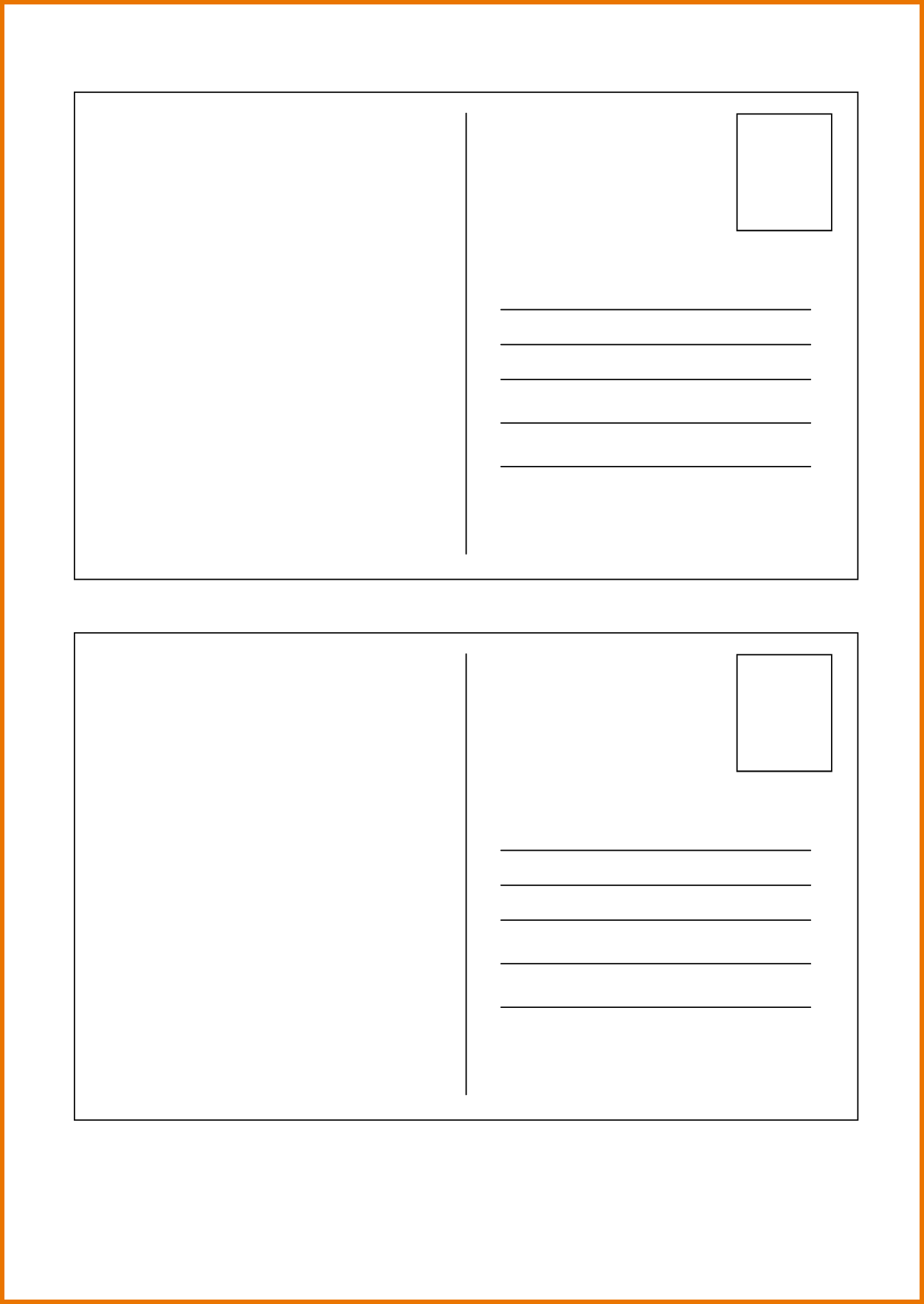 1000 ideas about Postcard Template – Free Postcard Templates for Word