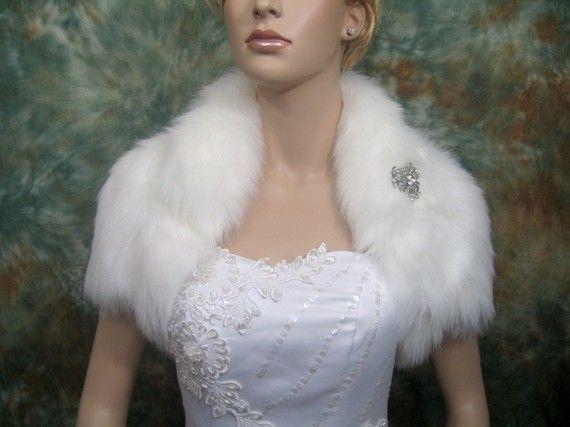 Ivory Faux Fur Bolero Shrug Wedding By Alexbridal 79 99