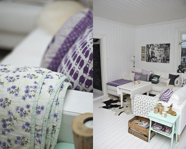 Love the purple with black and white/gray accents.....beautiful for guest room!