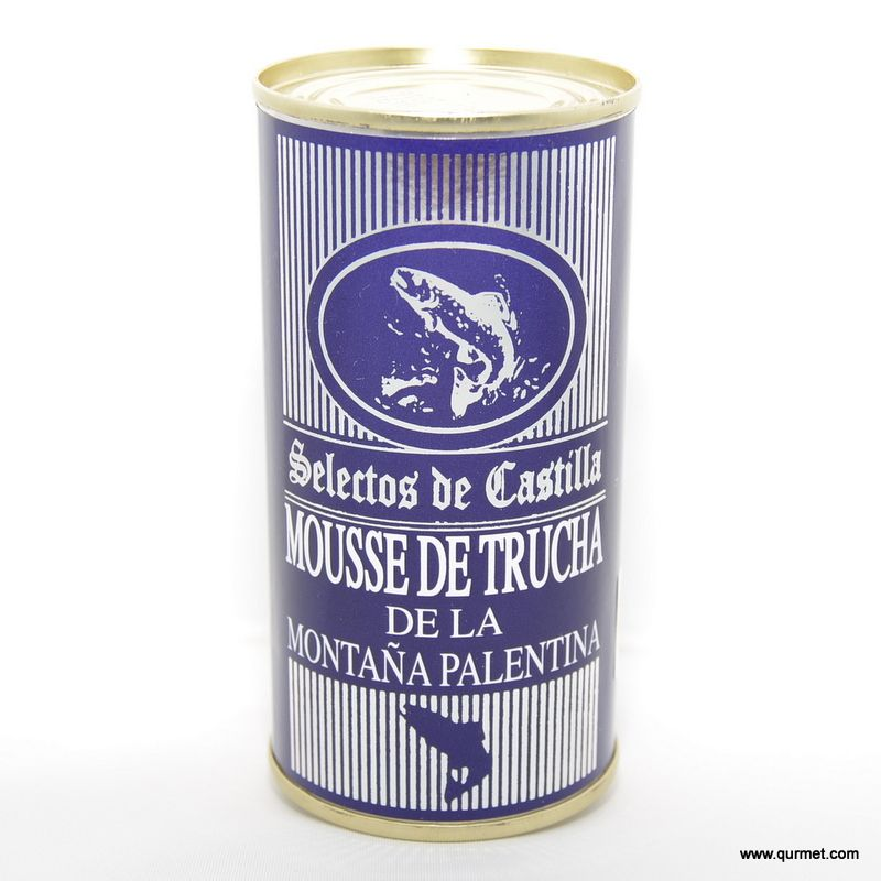 Mousse de Trucha de la montaña Palentina. Sabrosa mousse de truchas criadas en las piscifactorías de la montaña palentina, Aguilar de Campoo.