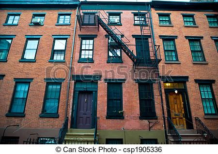 Brick Apartment Building Illustration. Building Stock Image of Old apartment buildings  brick