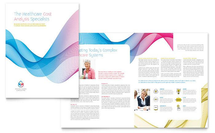 Insurance Consulting Brochure Template Design by StockLayouts - free brochure templates microsoft word