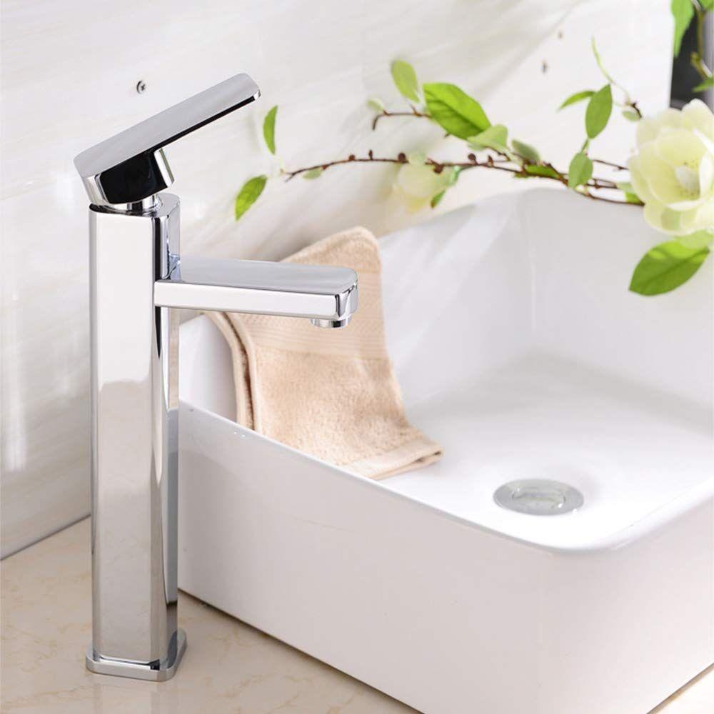 Amazon 洗面水栓 Lifisnky 浴室用蛇口 混合水栓 シングルレバー 洗面用 台付 給水ホース付き 真鍮製 洗面水栓 水栓