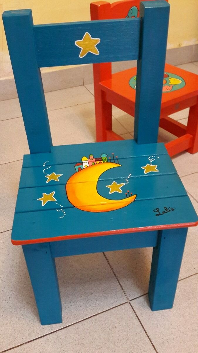 Resultado de imagen de sillas pintadas a mano | Lindo | Pinterest ...