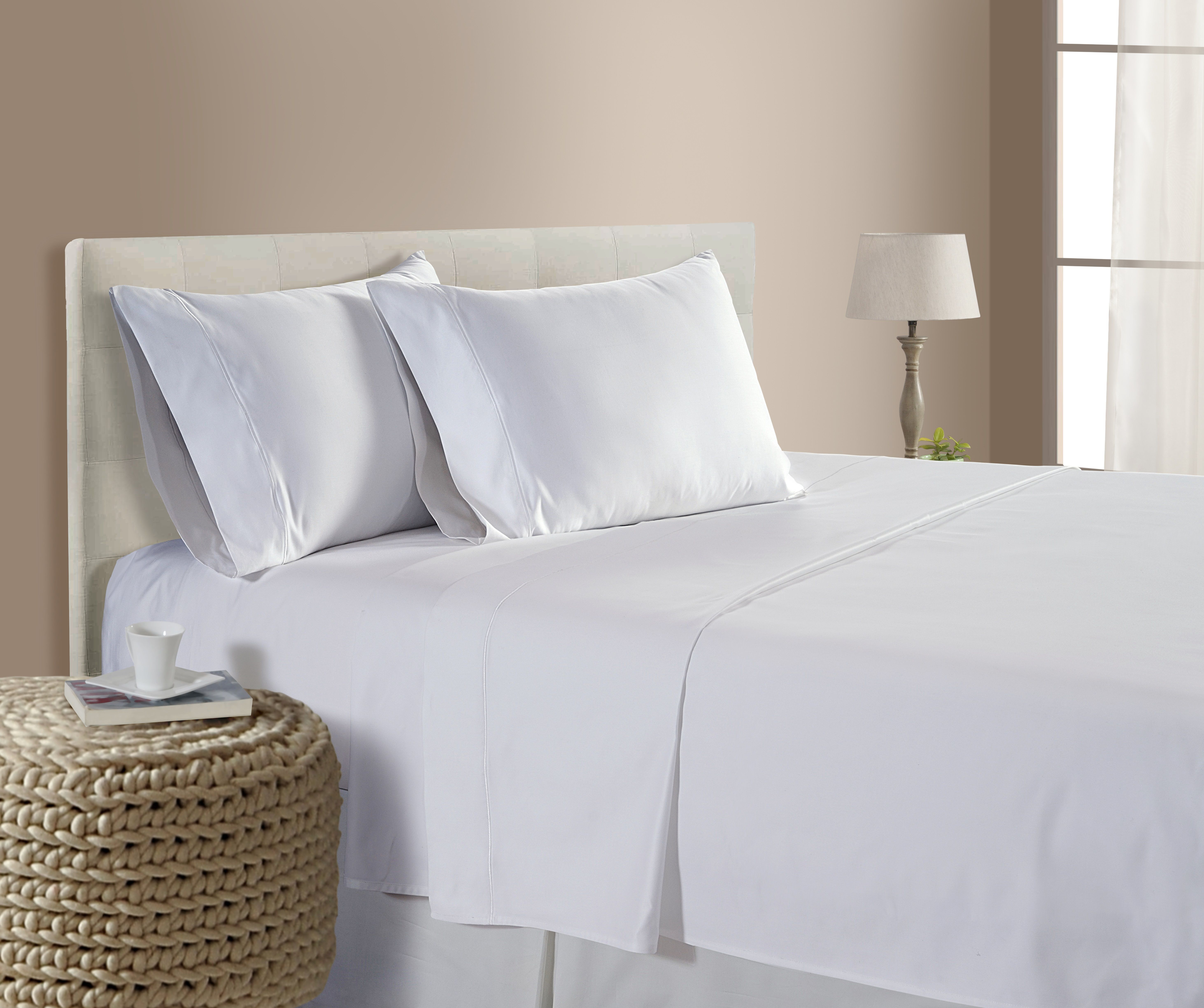 Luxury 100 Egyptian Cotton 800 Thread Count Sheet Set Addy Home Fashions White King Walmart Com Bed Sheet Sets King Size Sheets Egyptian Cotton Sheets 100 cotton king size sheets