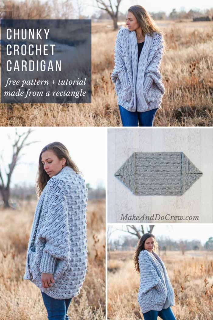 Photo of Free Crochet Sweater Pattern – Haven Bobble Cardigan – Video Tutorial