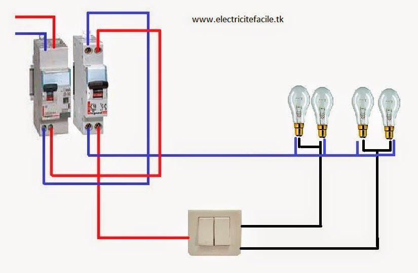 Schema De Cablage Electrique Va Et Vient Schema Electrique Electrical Installation Electrical Wiring Electricity