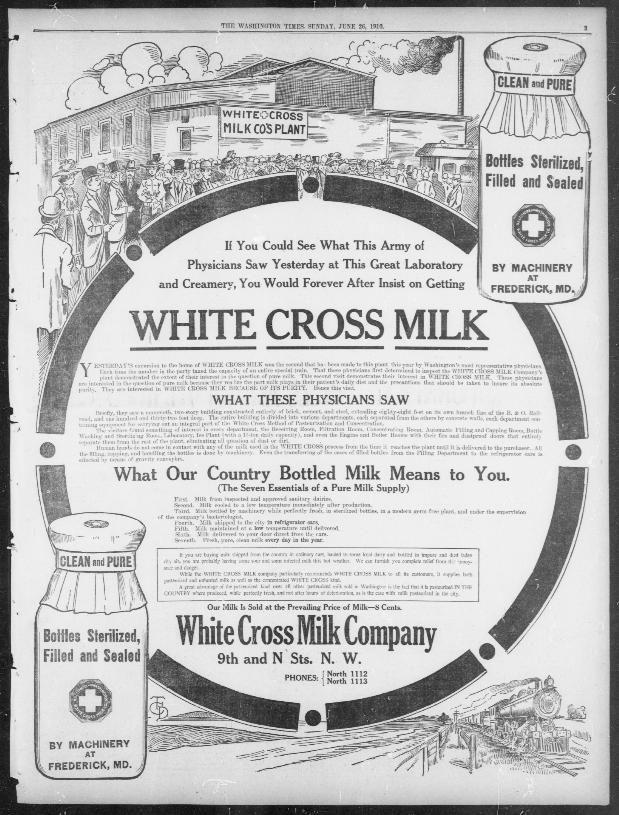 White Cross Milk Full Page AD..........................The Washington times.  (Washington  D.C. ) 1902-1939 3d101bdb169