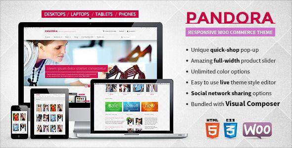 Pandora — Responsive WooCommerce HTML5 Theme | Wordpress, Wordpress ...