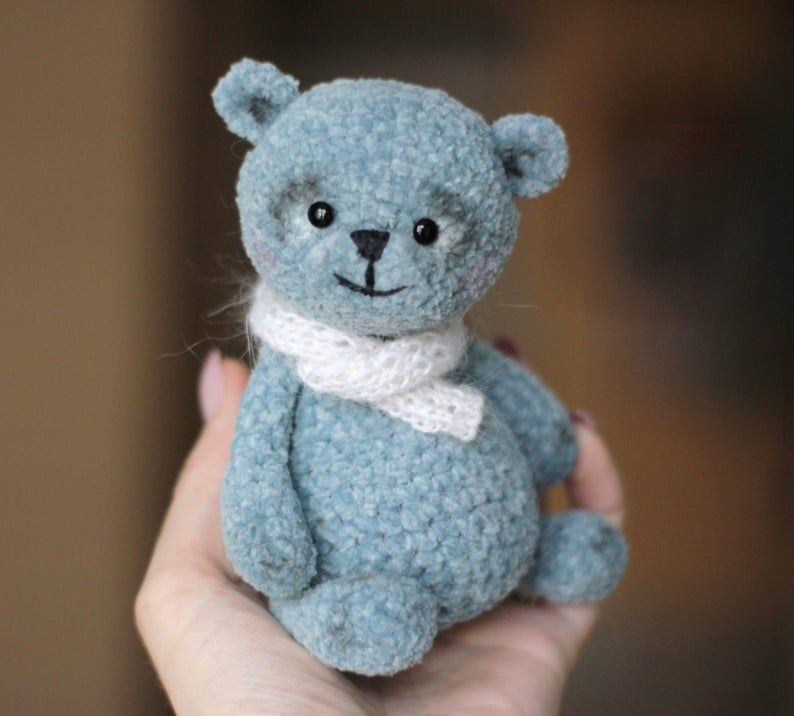 Your place to buy and sell all things handmade #bearplushtoy Plush grey bear bear toy for baby handmade Teddy bear | Etsy #bearplushtoy