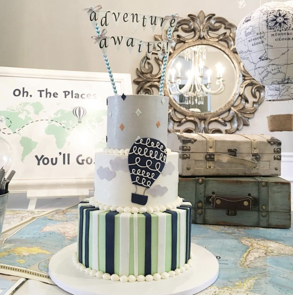 Adventure Awaits Baby Shower Adventure Awaits Baby Shower Baby Shower Decorations Boy Shower