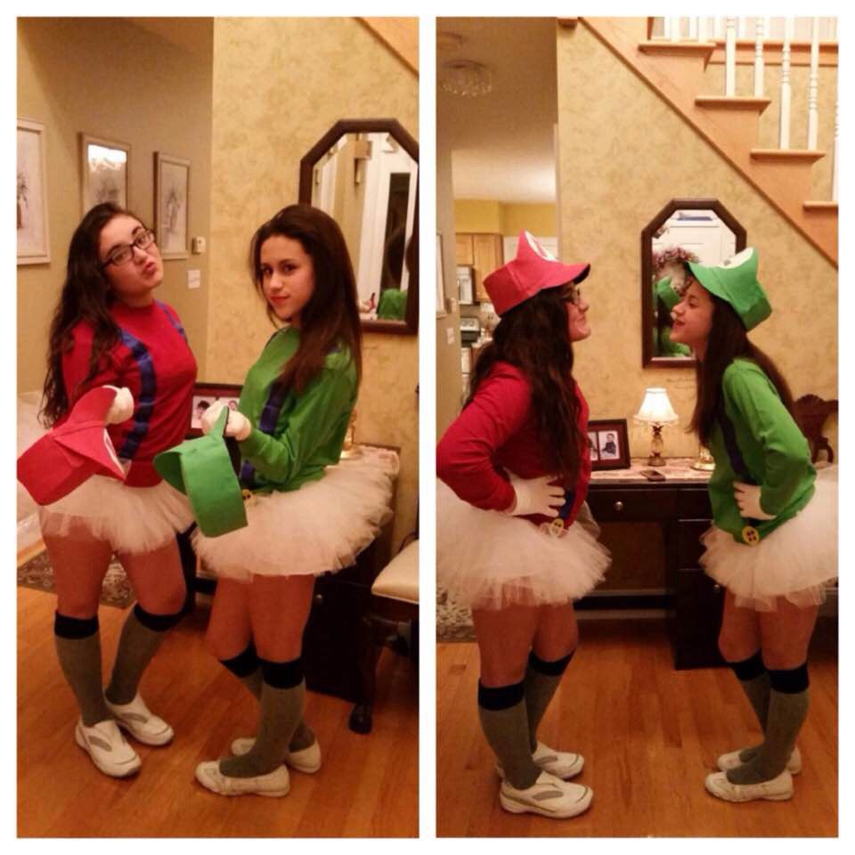 Mario and Luigi halloween costumes for two people. Cute