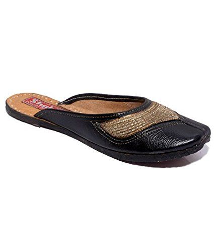 Shahi Women's black back open jutti: Buy Online at Low Prices in India - Amazon.in