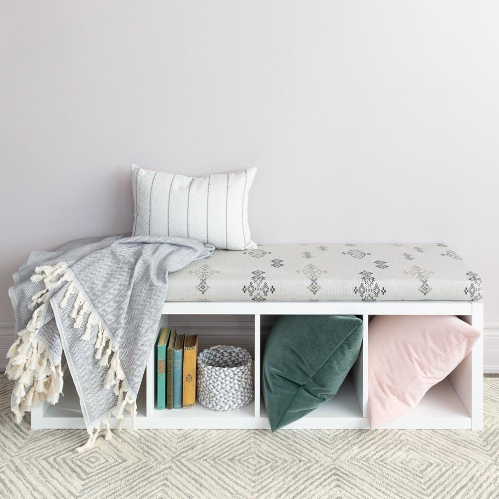 Austin Foam Bench Cushion Putty Ikea Hack Kallax Shelf