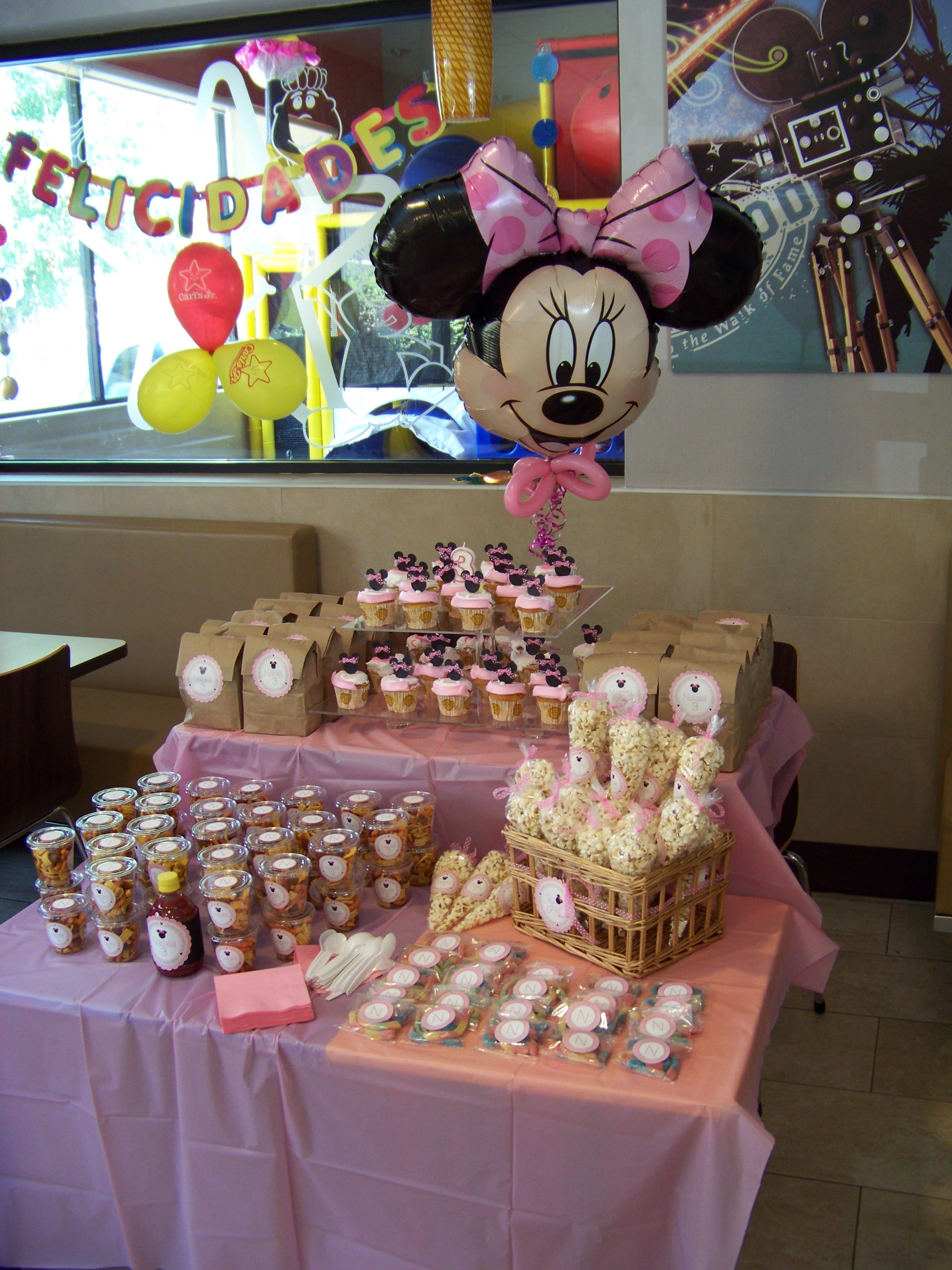 Minnie Mouse Small Candy Table Minnie Mouse Party Decorations Minnie Mouse Party Mickey Mouse Party