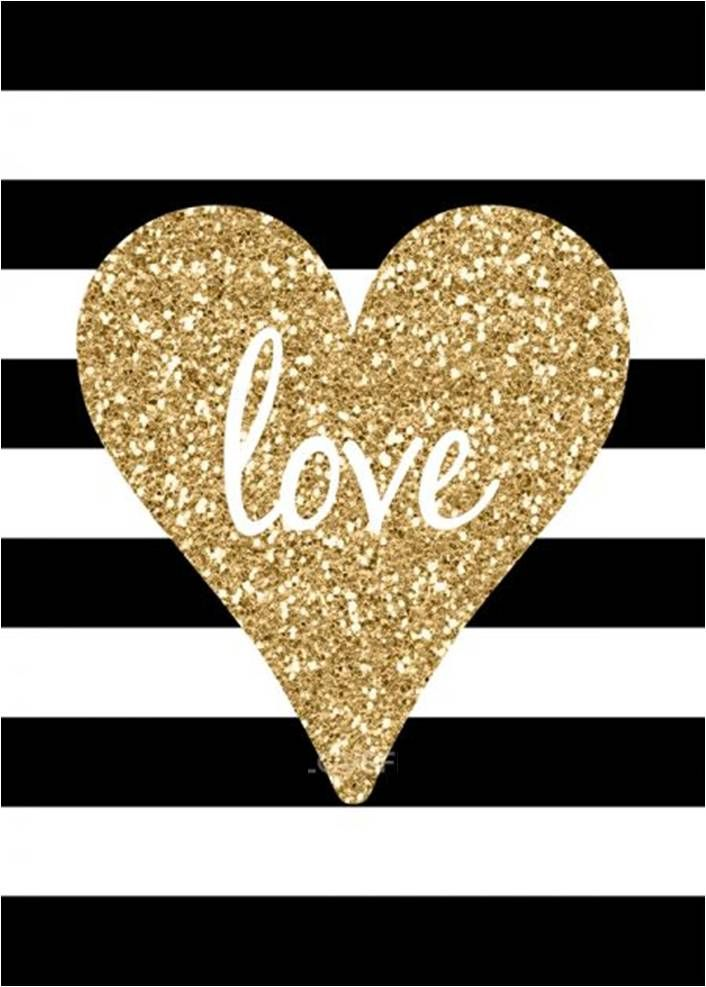 Best Love Gold Glitter Black And White Stripes Phone Background 400 x 300