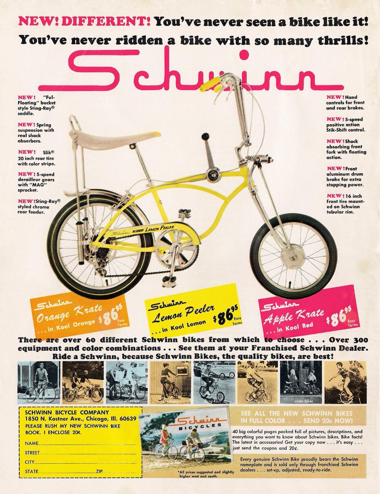 vintage Schwinn 5speed bicycle advertisement, my sister has an