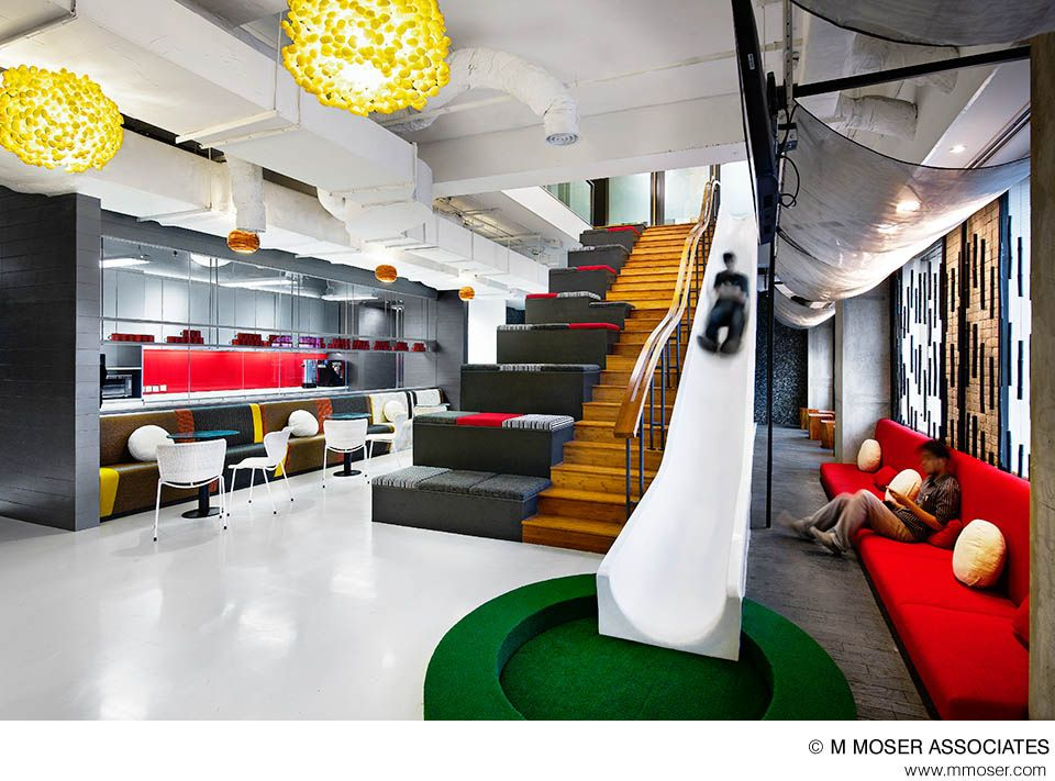 creative office design by m moser associates office designs