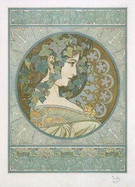 Nouveau Poison Ivy by Alphonse Mucha Fine Art Print