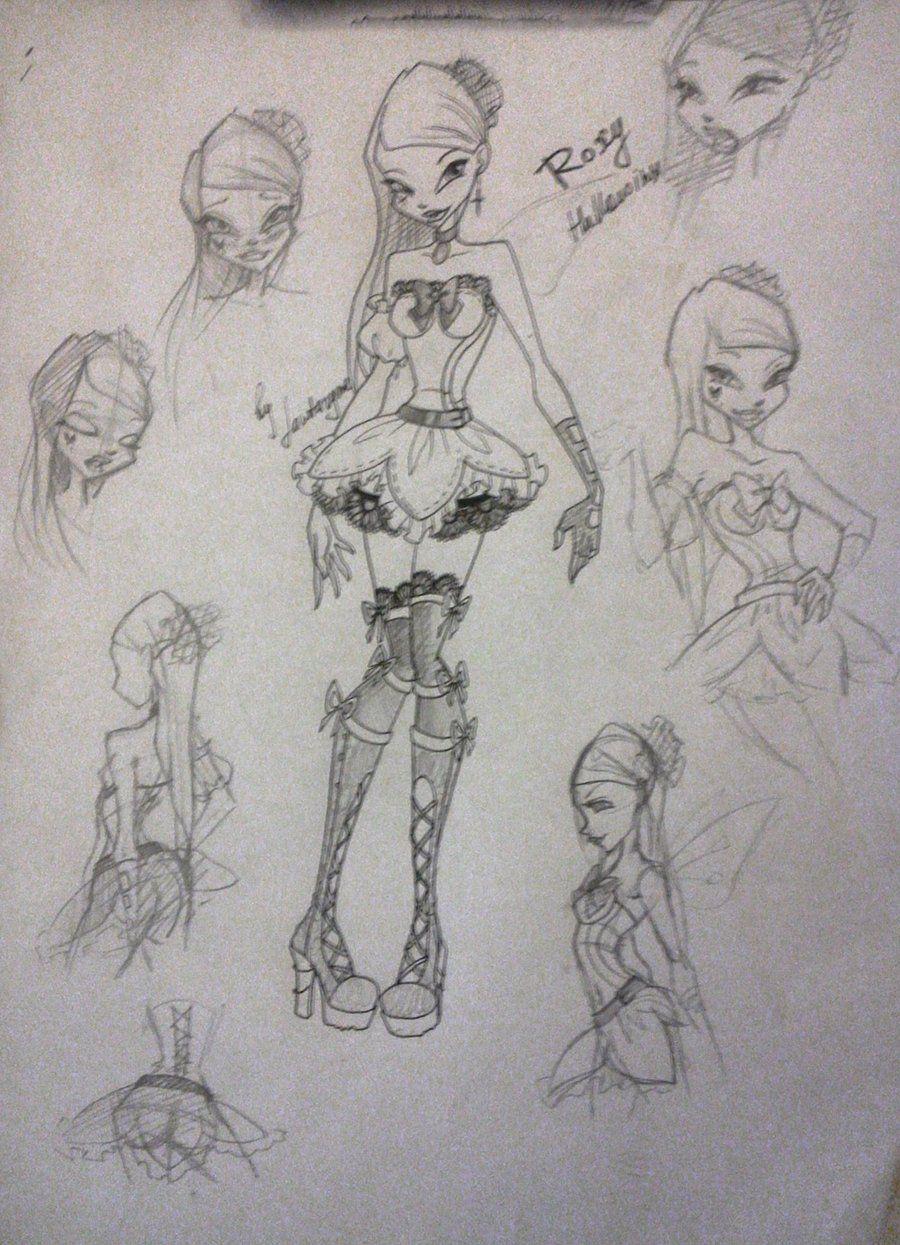 Roxy hallowinx sketch by fantazyme.deviantart.com #WinxClub