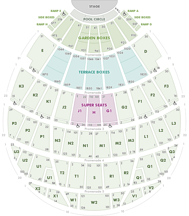 Hollywood bowl seating chart rock n roll pinterest for Terrace 6 hollywood bowl