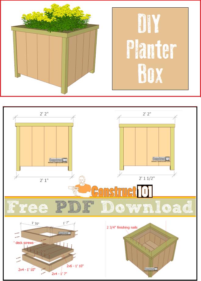 Planter Box Plans Pdf Download Hecho En Madera Pinterest