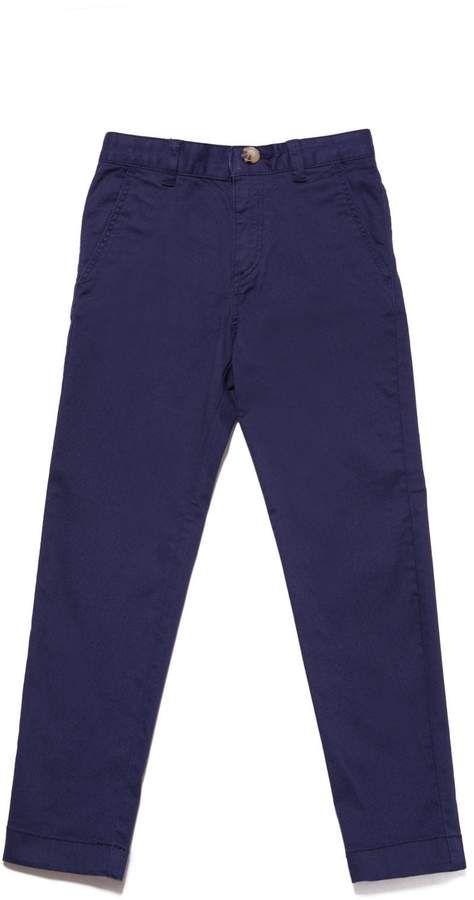 Lacoste Kids Blue Cotton Chino.
