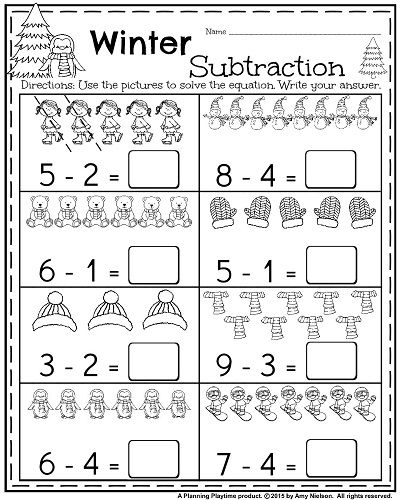 January Kindergarten Worksheets January Kindergarten Worksheets Kindergarten Subtraction Worksheets Subtraction Kindergarten
