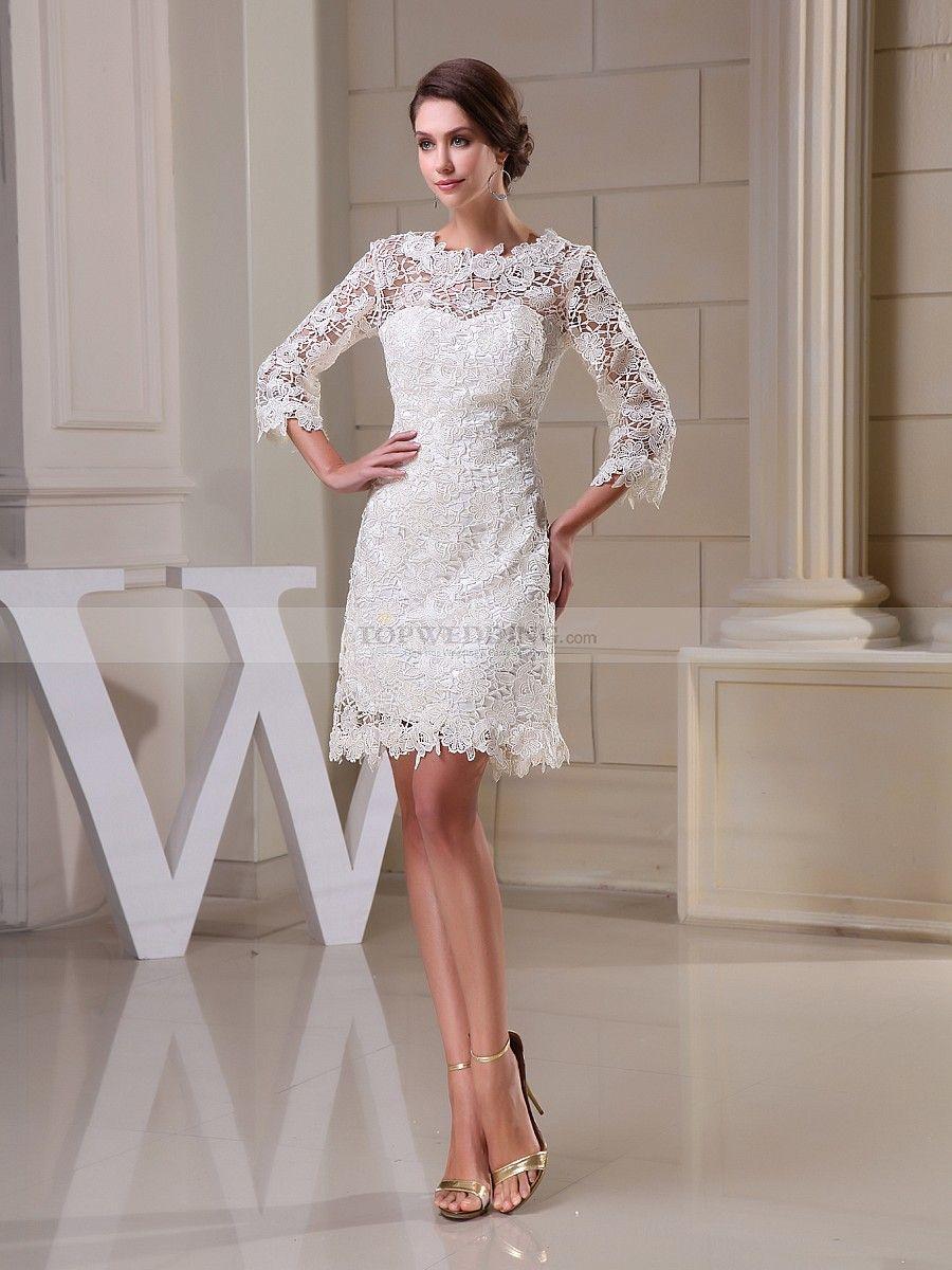 Dainty Mini Lace Long Sleeve Column Dress