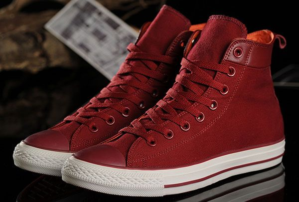 7993288b6848  converse Unisex Leisure Converse Chuck Taylor All Star Red Canvas High Tops  Sneakers