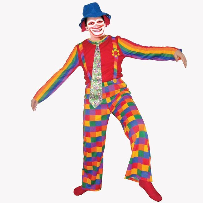 Dress Up America Adults' 'Laughing Clown' Costume, Men's
