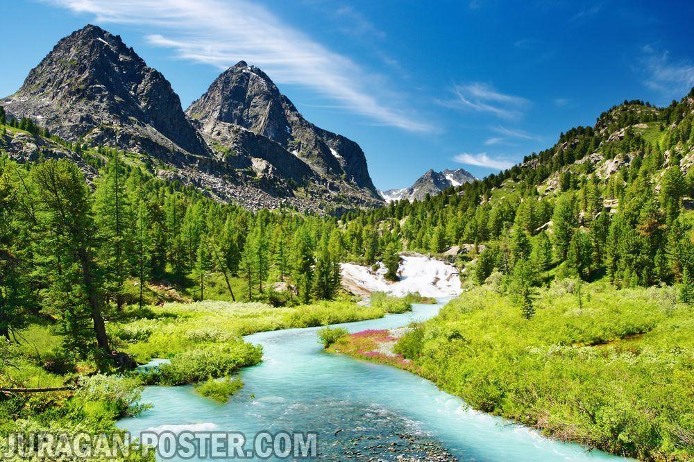 Jual Poster Gambar Pemandangan Alam Gunung Poster Mountains Nature Alam Gunung Pegunungan Murah Nature Poster Outdoor